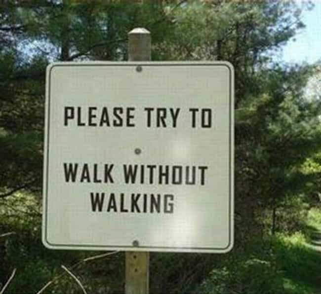 Walk The Line is listed (or ranked) 1 on the list 28 Confusing Signs That Need To Make Up Their Mind Already