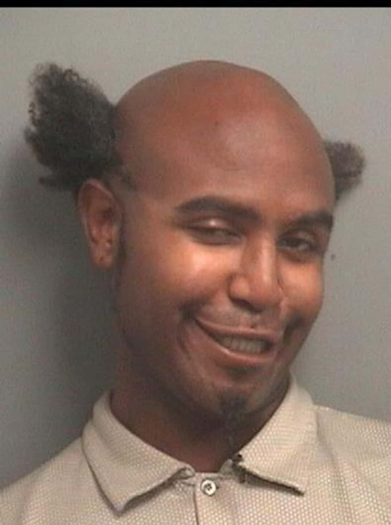 Hair On The Side is listed (or ranked) 4 on the list 27 Of The Most Embarrassing Mugshot Hairdos Ever