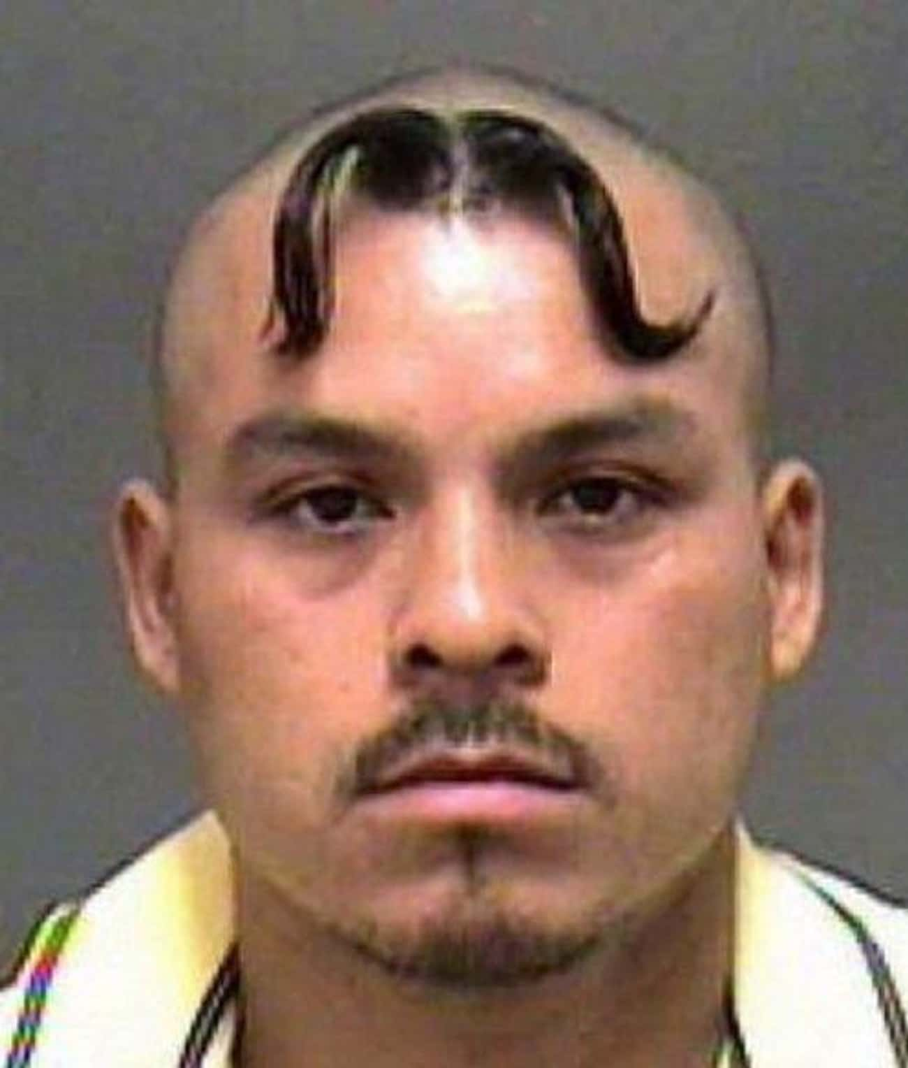 Taking Your Stache To New Heig is listed (or ranked) 4 on the list 27 Of The Most Embarrassing Mugshot Hairdos Ever
