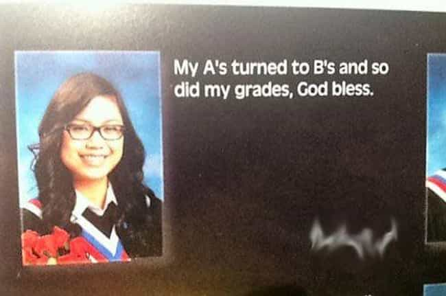Boo B's is listed (or ranked) 2 on the list 25 Oddly Sexual Yearbook Quotes