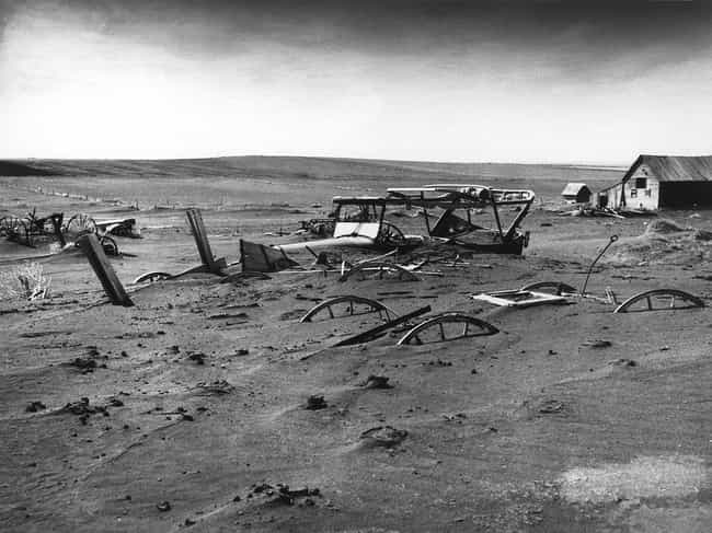 Machinery Buried By Dust In So... is listed (or ranked) 1 on the list 20+ Powerful, Bleak Photographs From the Dust Bowl