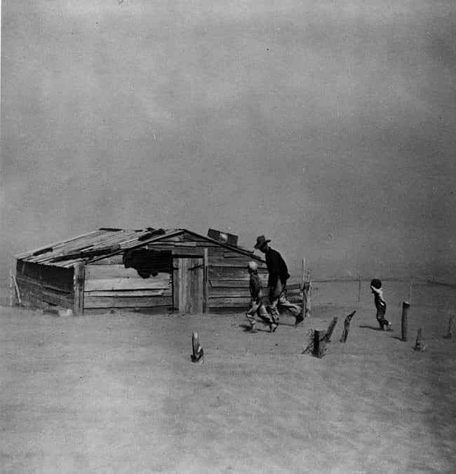 A Farmer And His Family Trudgi... is listed (or ranked) 2 on the list 20+ Powerful, Bleak Photographs From the Dust Bowl