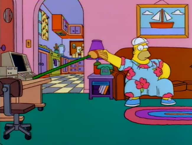 Homer Lazes Around In A Muumuu is listed (or ranked) 1 on the list The Handful Of Times Simpsons Characters Wore Different Clothes And Why