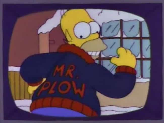 Homer Simpson As Mr. Plow is listed (or ranked) 4 on the list The Handful Of Times Simpsons Characters Wore Different Clothes And Why