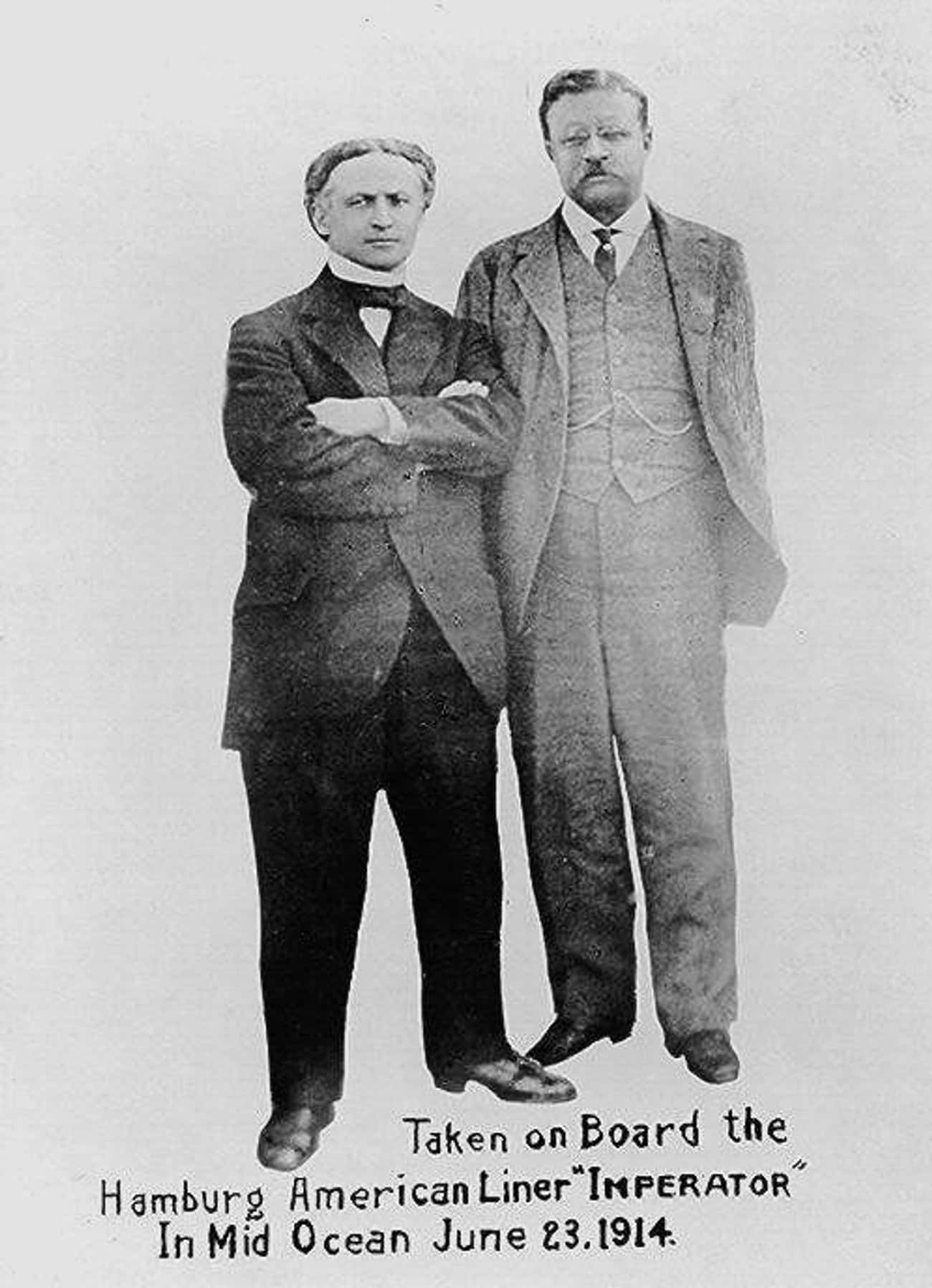 Harry Houdini And Theodore Roo is listed (or ranked) 3 on the list Photos of Historical Legends Hanging Out With Each Other