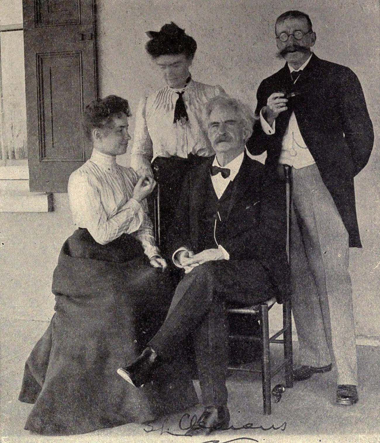 Helen Keller And Mark Twain, C is listed (or ranked) 1 on the list Photos of Historical Legends Hanging Out With Each Other