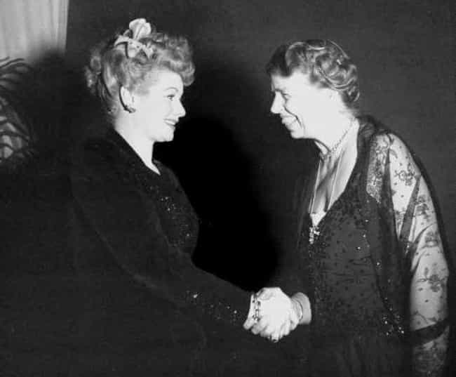 Lucille Ball And Eleanor... is listed (or ranked) 2 on the list Photos of Historical Legends Hanging Out With Each Other