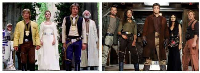 Star Wars Vs Firefly is listed (or ranked) 2 on the list 14 Fictional Universe Battles We'd Pay To See
