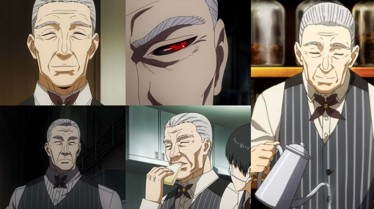 Yoshimura From Tokyo Ghoul is listed (or ranked) 4 on the list 20+ Anime Characters Who Always Keep Their Eyes Closed