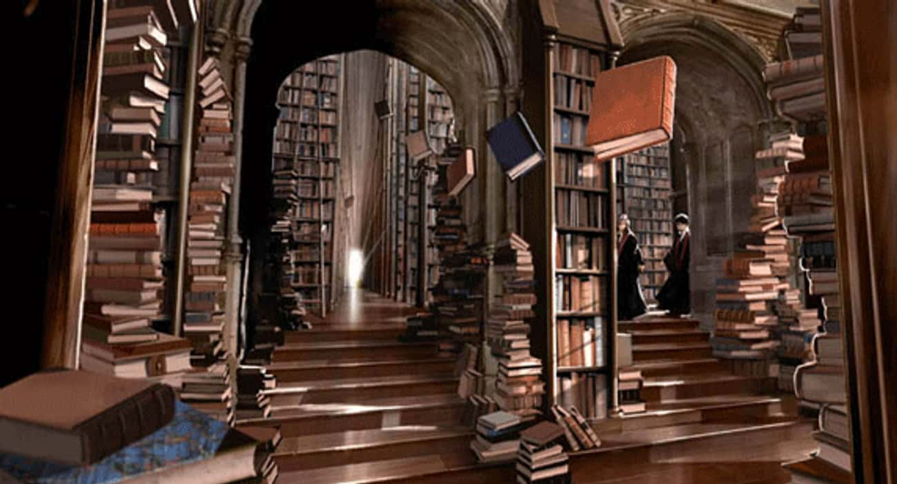 The Library is listed (or ranked) 3 on the list The 18 Coolest Rooms At Hogwarts