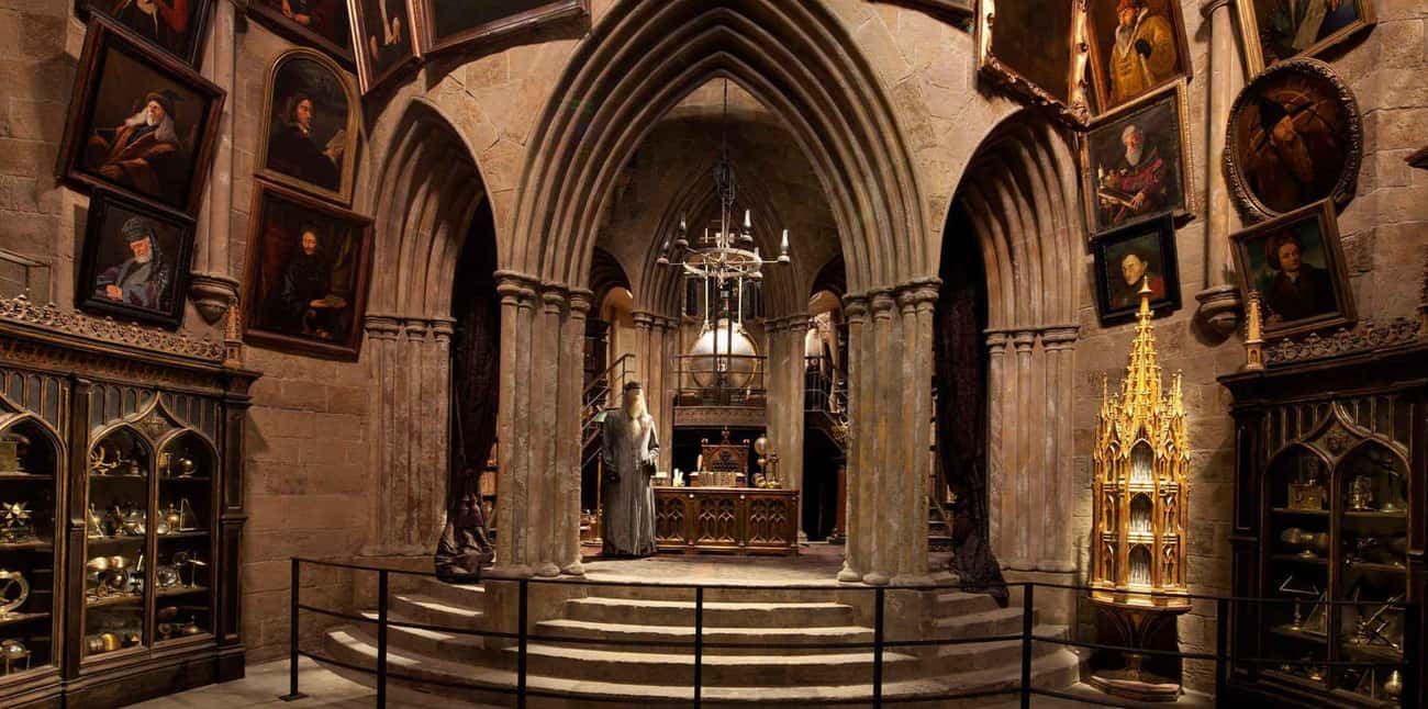The Headmaster's Office is listed (or ranked) 4 on the list The 18 Coolest Rooms At Hogwarts