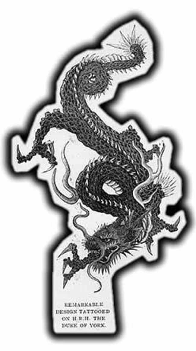 King George V's Dragon Tattoo,... is listed (or ranked) 3 on the list Tattoo Photographs And Trends From The 19th Century