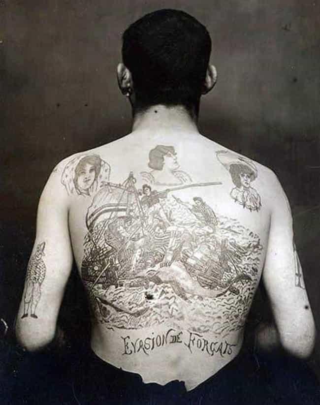 French Convict, Backpiece, 188... is listed (or ranked) 2 on the list Tattoo Photographs And Trends From The 19th Century