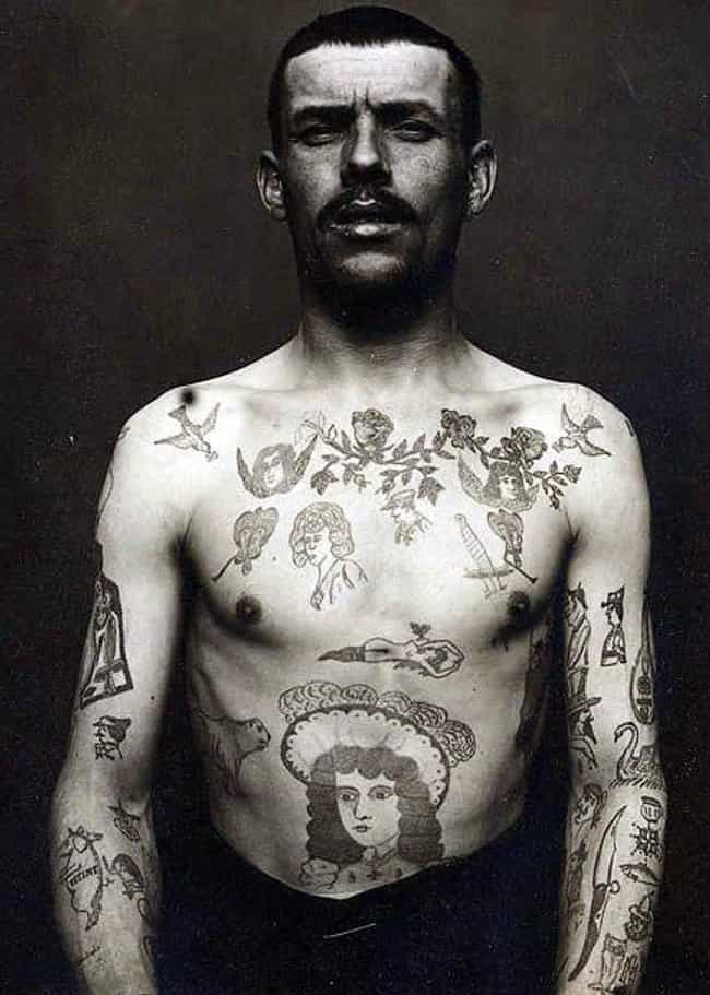 French Convict, 1880s is listed (or ranked) 1 on the list Tattoo Photographs And Trends From The 19th Century