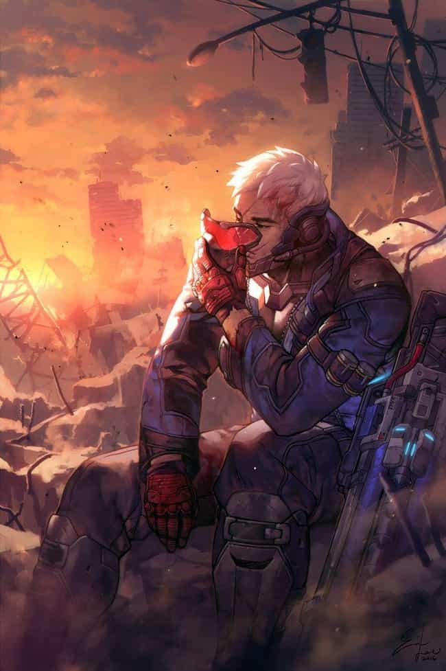 Soldier:76 Unmasked is listed (or ranked) 3 on the list 32 Gorgeous Fan Art Interpretations Of Overwatch Heroes