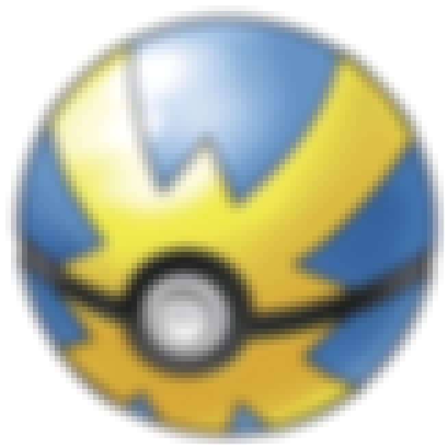 Quick Ball is listed (or ranked) 4 on the list Every Kind Of Poké Ball In Pokémon