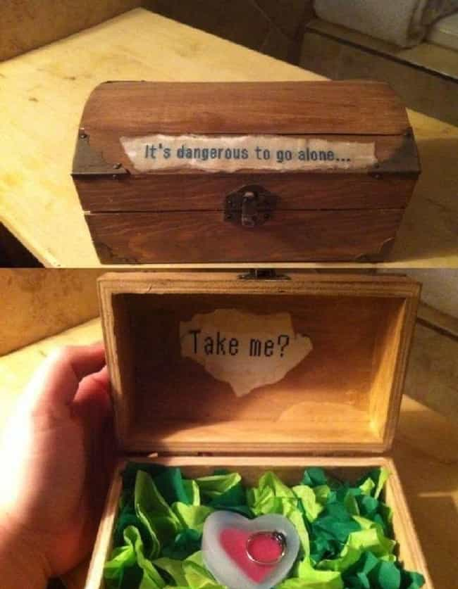 The Missing Link is listed (or ranked) 3 on the list 24 Amazingly Nerdy Proposals You Are Probably Going To Steal