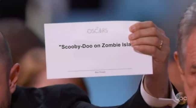 Jinkies! is listed (or ranked) 4 on the list The Funniest Oscars Best Picture Envelope Photoshops