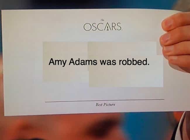 Dead On Arrival is listed (or ranked) 3 on the list The Funniest Oscars Best Picture Envelope Photoshops