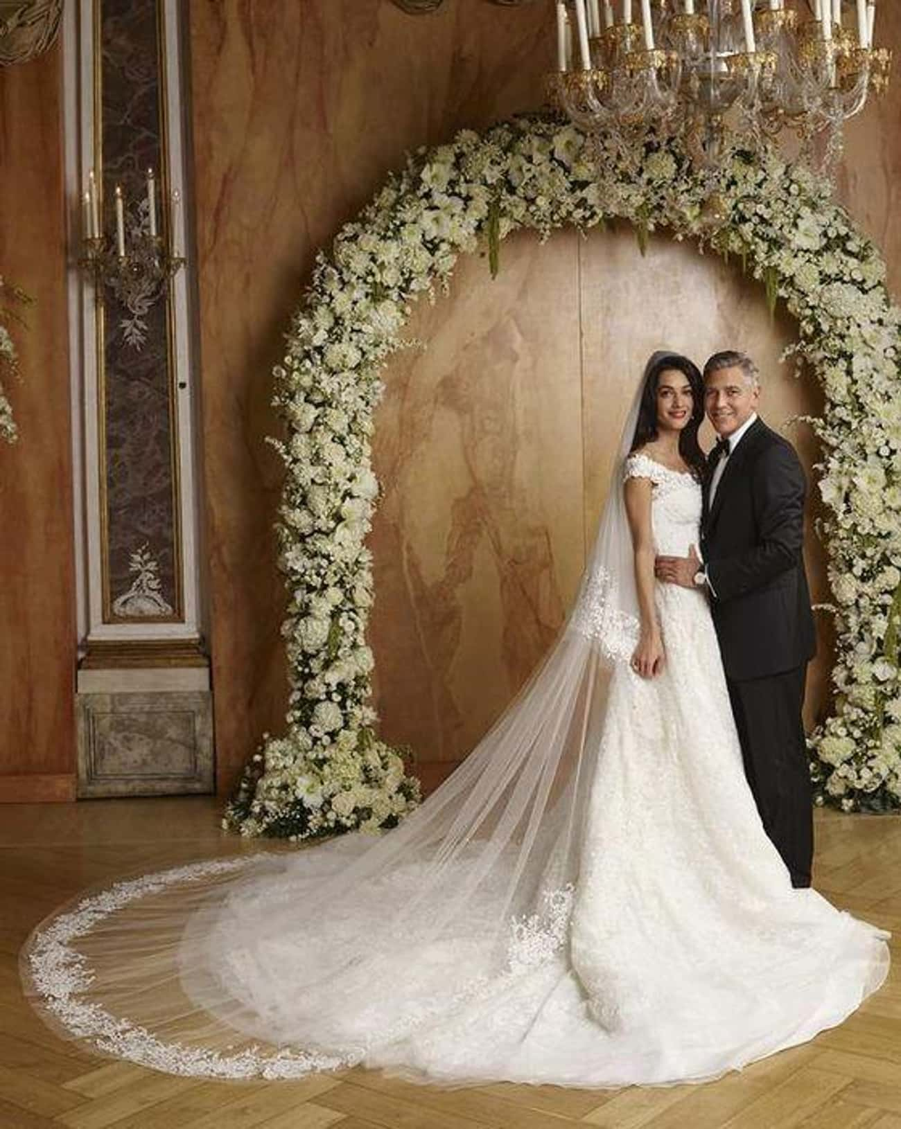 George Clooney And Amal Alamud is listed (or ranked) 4 on the list 29 First-Dance Songs Celebs Played At Their Weddings