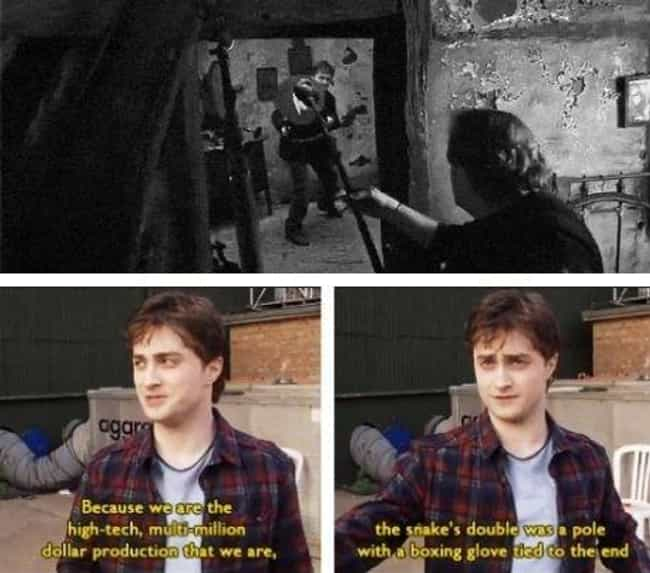 Danielle Radcliffe Speaks Comi... is listed (or ranked) 4 on the list 20 Unforgettable Behind The Scenes Images From The Harry Potter Movies