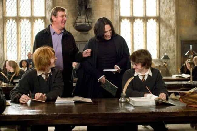 A Candid Shot Of Alan Rickman,... is listed (or ranked) 1 on the list 20 Unforgettable Behind The Scenes Images From The Harry Potter Movies