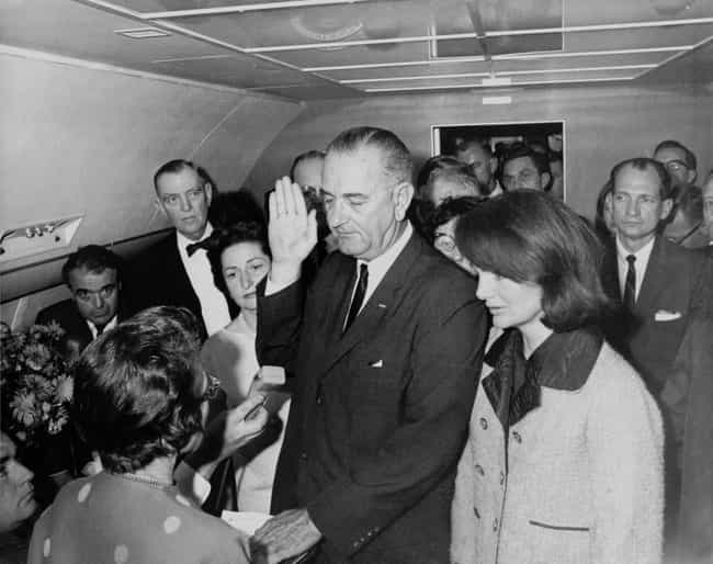 LBJ Was Sworn In As The New Pr... is listed (or ranked) 7 on the list What Happened Immediately After JFK Was Assassinated?