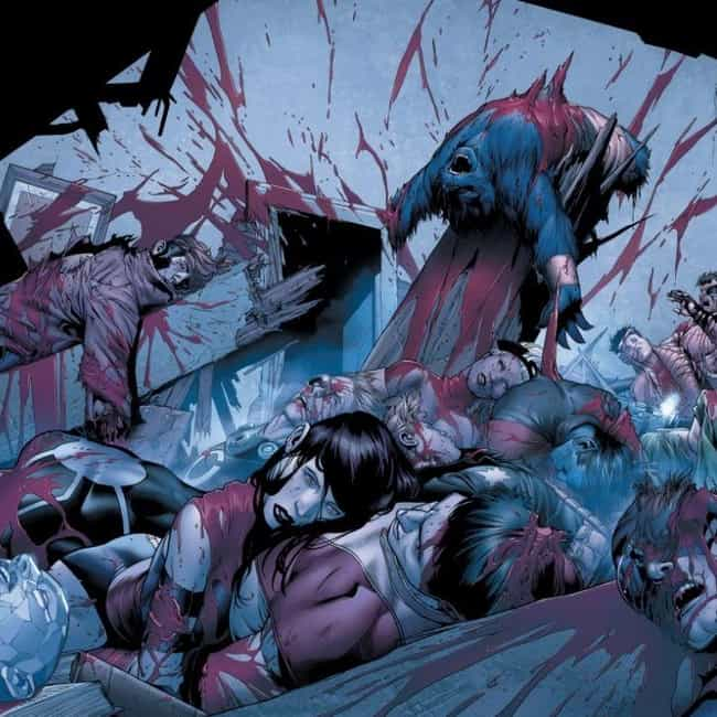 Old Man Logan: Logan Vs. X-Men is listed (or ranked) 4 on the list 15 Moments That Prove Mark Millar Is The Most Gruesome Writer In Comic Book Hist