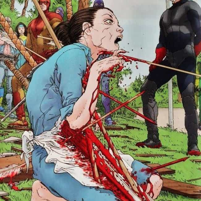 Jupiter's Legacy: Death Of Lad... is listed (or ranked) 2 on the list 15 Moments That Prove Mark Millar Is The Most Gruesome Writer In Comic Book Hist