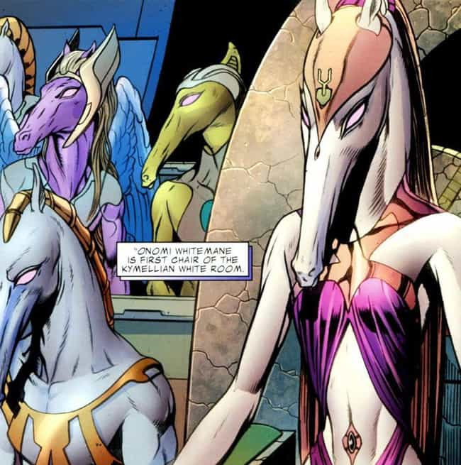 Kymellians is listed (or ranked) 5 on the list 15 Marvel Aliens That Are Way Too Weird For Guardians Of The Galaxy Vol. 2
