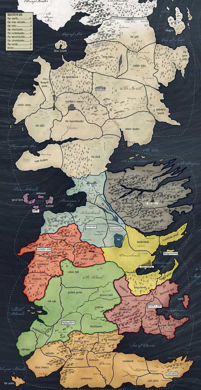 You'd Get Lost And Die o... is listed (or ranked) 2 on the list 15 Reasons You'd Be Dead AF If You Lived In Westeros