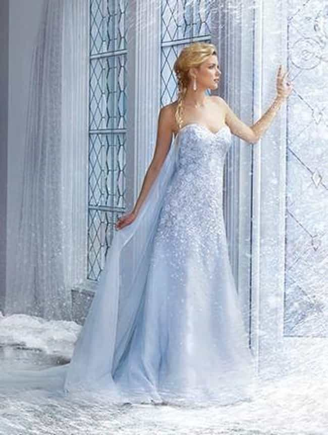 Elsa Is Listed Or Ranked 2 On The List 25 Gorgeous Wedding Dresses Inspired