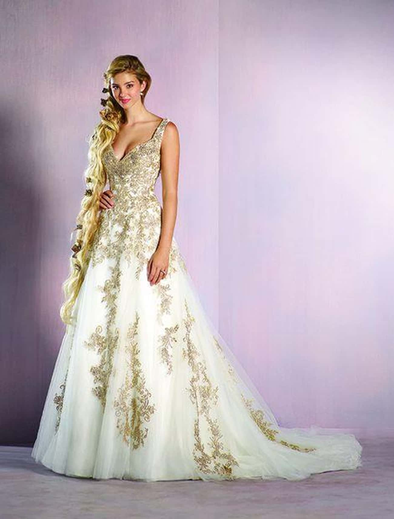 Rapunzel is listed (or ranked) 4 on the list 25 Gorgeous Wedding Dresses Inspired By Disney