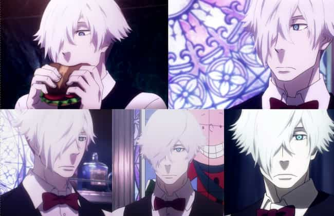 Decim From Death Parade is listed (or ranked) 4 on the list Anime Characters With The Least Expressive Faces