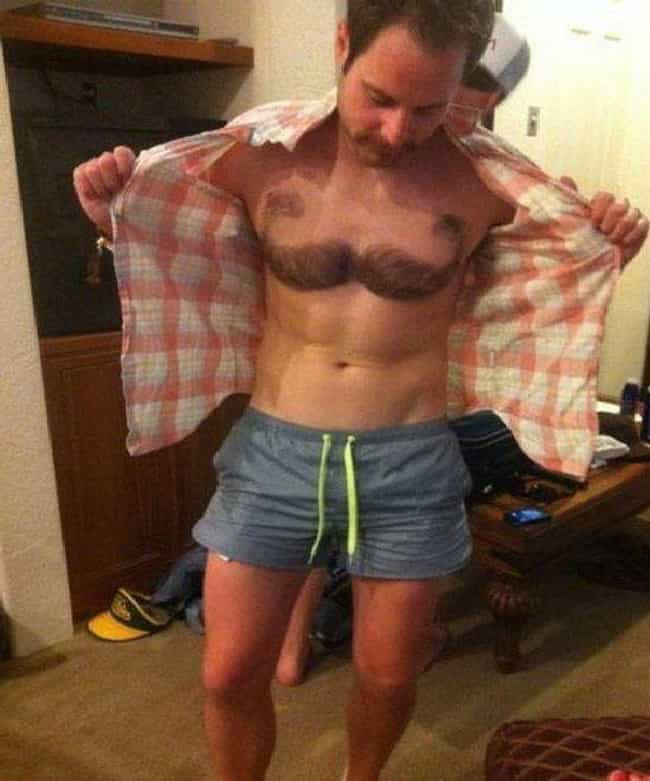 Treasure Chest is listed (or ranked) 2 on the list 26 Gross Examples Of Body Hair Art That Are Just Not Okay