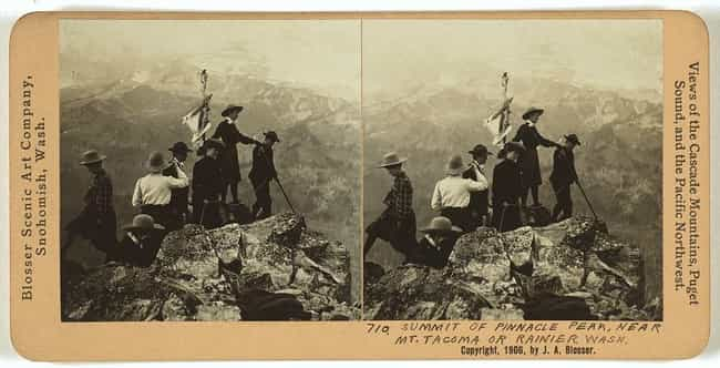 Summit Of Pinnacle Peak, Near ... is listed (or ranked) 3 on the list 25 Awesome Photos of Early 1900s Mountain Climbers