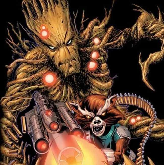 Groot And Rocket Raccoon is listed (or ranked) 1 on the list 15 Adorable Marvel Superhero BFFs That Are Total Friendship Goals