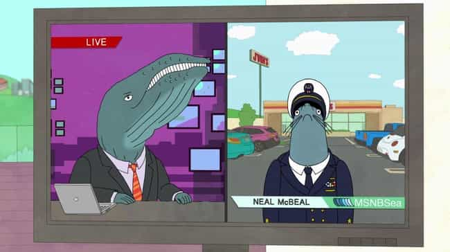 Meet Neal McBeal The Nav... is listed (or ranked) 1 on the list 80 Incredible Animal Puns You Probably Missed On BoJack Horseman