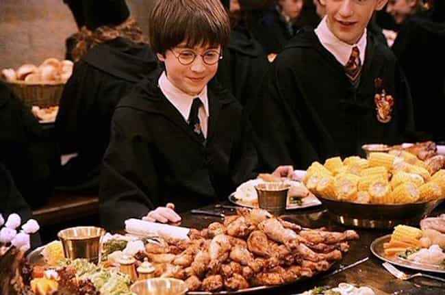 The First Day Feast At H... is listed (or ranked) 3 on the list All The Harry Potter Foods You Wanted To Eat