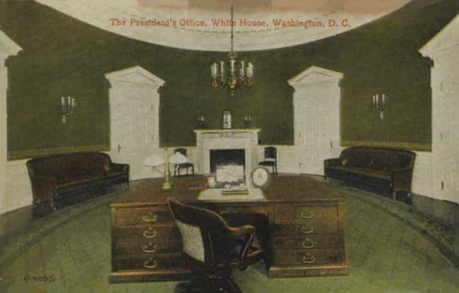 William Howard Taft, 1909–1913 is listed (or ranked) 1 on the list 19 Photos Of What The Oval Office Looked Like Under Different Presidents