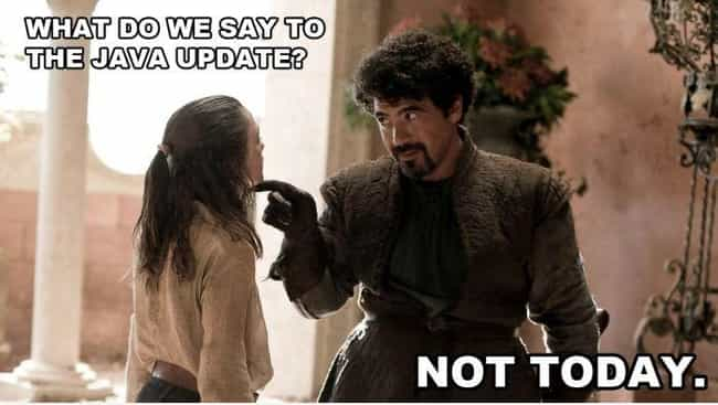 Not Today is listed (or ranked) 6 on the list 20 Best Game of Thrones Memes