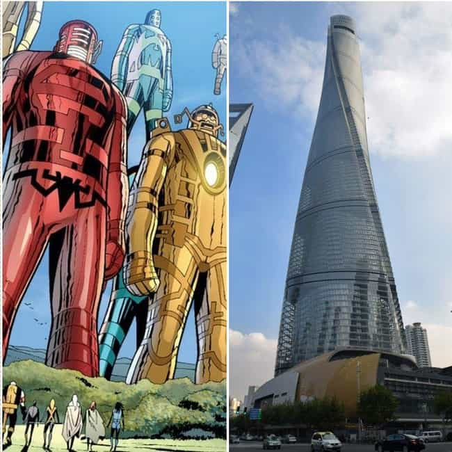 The Celestials Are An Enormous... is listed (or ranked) 4 on the list 15 Pictures That Put The Enormous Marvel Characters In Perspective