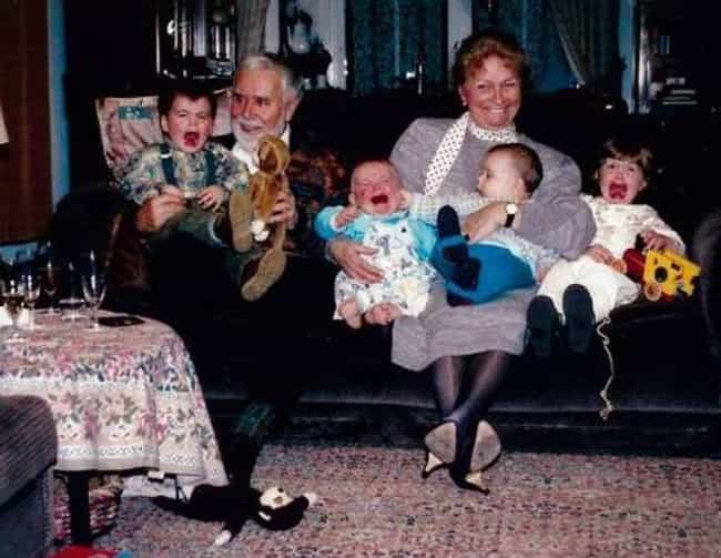 Couch Of Horrors is listed (or ranked) 3 on the list 25 Unintentionally Hilarious Times Kids Ruined Family Portraits