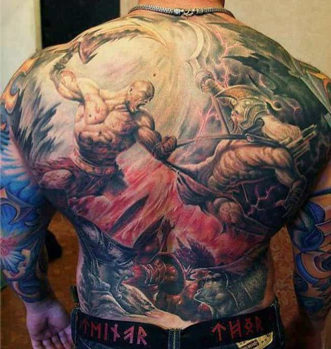 God Of War Back Piece is listed (or ranked) 2 on the list Best Video Game Tattoos
