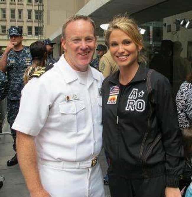 He's A Naval Commander ... is listed (or ranked) 2 on the list 11 Facts You Probably Didn't Know About Sean Spicer's Past