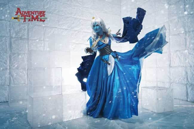 Ice Queen is listed (or ranked) 4 on the list 20 Flawless Adventure Time Cosplays That Are SO Math