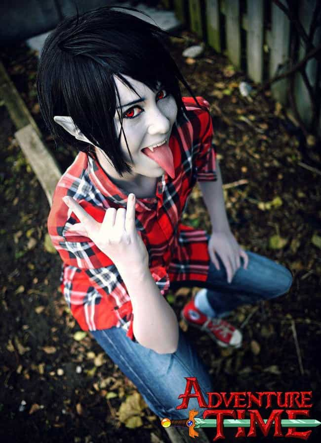 Marshall Lee is listed (or ranked) 4 on the list 20 Flawless Adventure Time Cosplays That Are SO Math