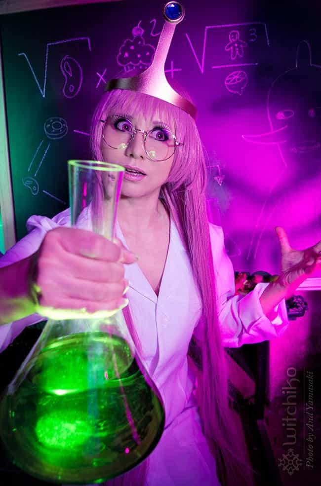 Crazy Scientist Princess Bubbl... is listed (or ranked) 4 on the list 20 Flawless Adventure Time Cosplays That Are SO Math