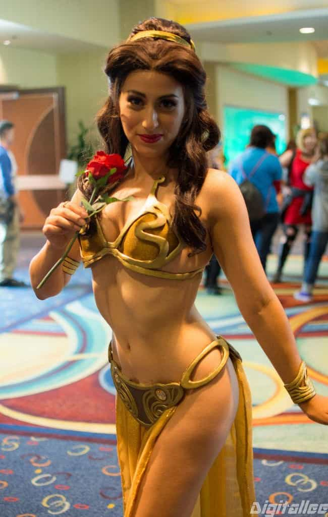 Enslaved Belle is listed (or ranked) 1 on the list 18 Star Wars Crossover Cosplays That Will Awaken Your Force