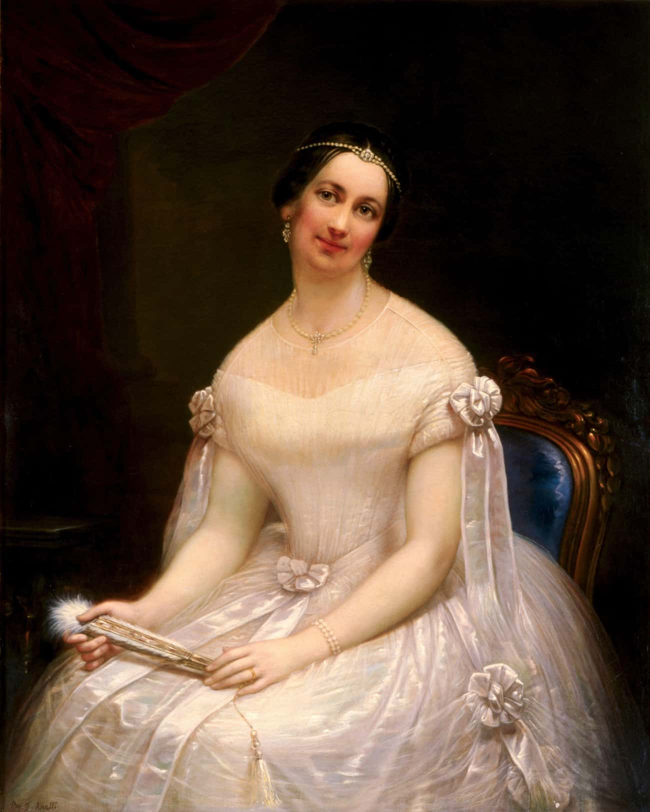 She Was Labeled 'The Rose  is listed (or ranked) 2 on the list 16 Facts About Julia Tyler, The Most Controversial First Lady of the 1800s